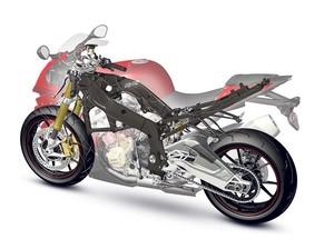 BMW Motorrad Kembangkan Sasis Karbon Fiber untuk Motor