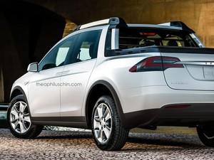 Ketika Mobil Listrik Tesla Berbentuk Pikap