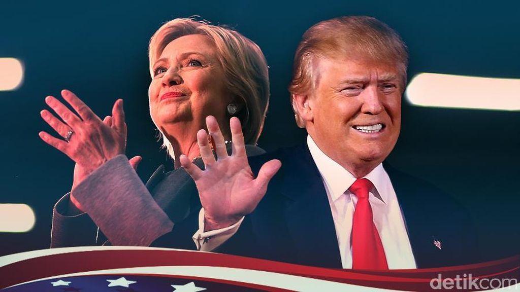 Polling Terbaru: Hillary Clinton Makin Jauh Ungguli Donald Trump