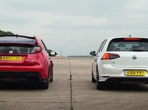 Siapa Lebih Kencang, Honda Civic Type R atau VW Golf R?