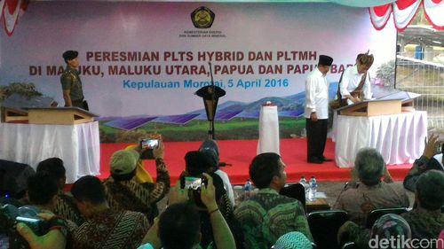 Tambah Pasokan Listrik, Jokowi Resmikan 7 PLTS di Indonesia Timur
