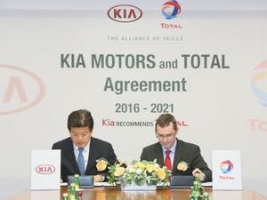 Kia Motors dan Total Perpanjang Kontrak Kerja Sama