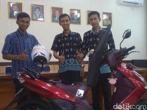 3 Pemuda Kendal Ciptakan Anti Maling untuk Motor dan Pengingat Pakai Helm