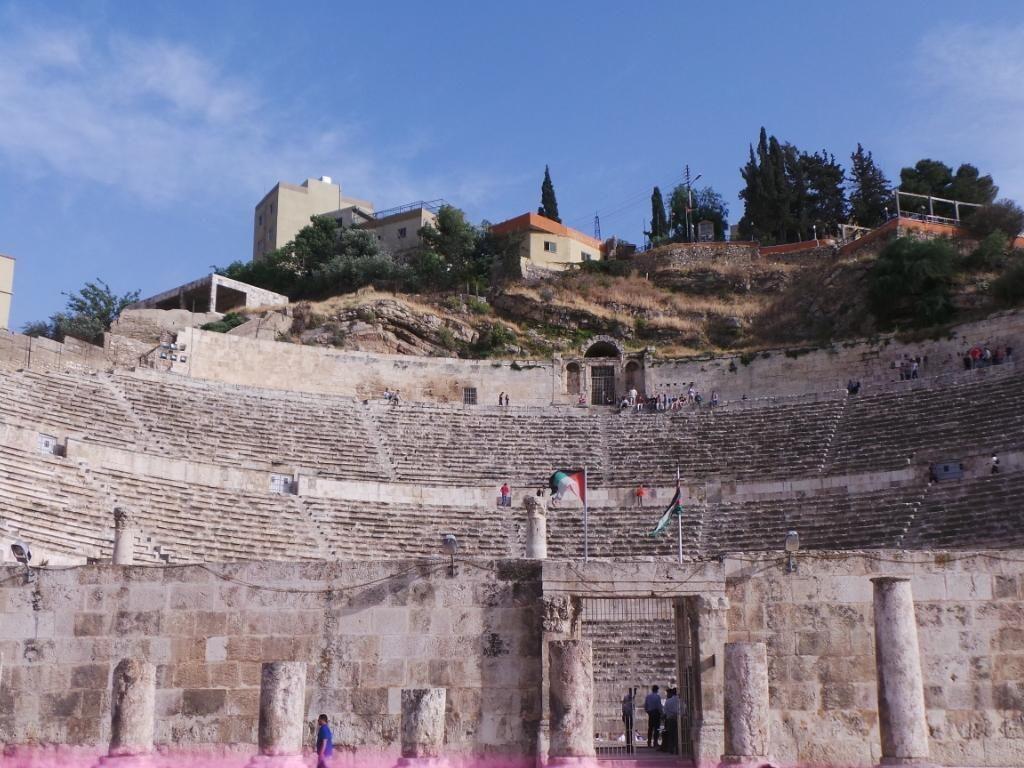 Wajah Romawi di Kota Amman, Yordania