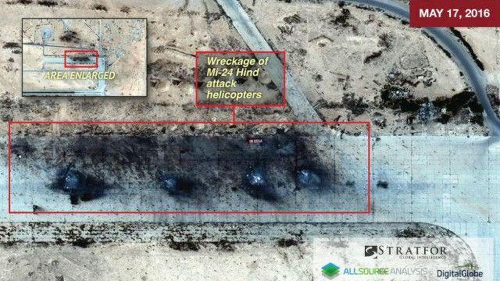 ISIS 'Membakar' Helikopter dan Truk Rusia di Suriah