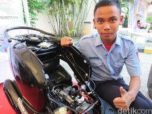 Hasil Inovasi Siswa SMK, Mungkinkah Diproduksi di Motor Honda?