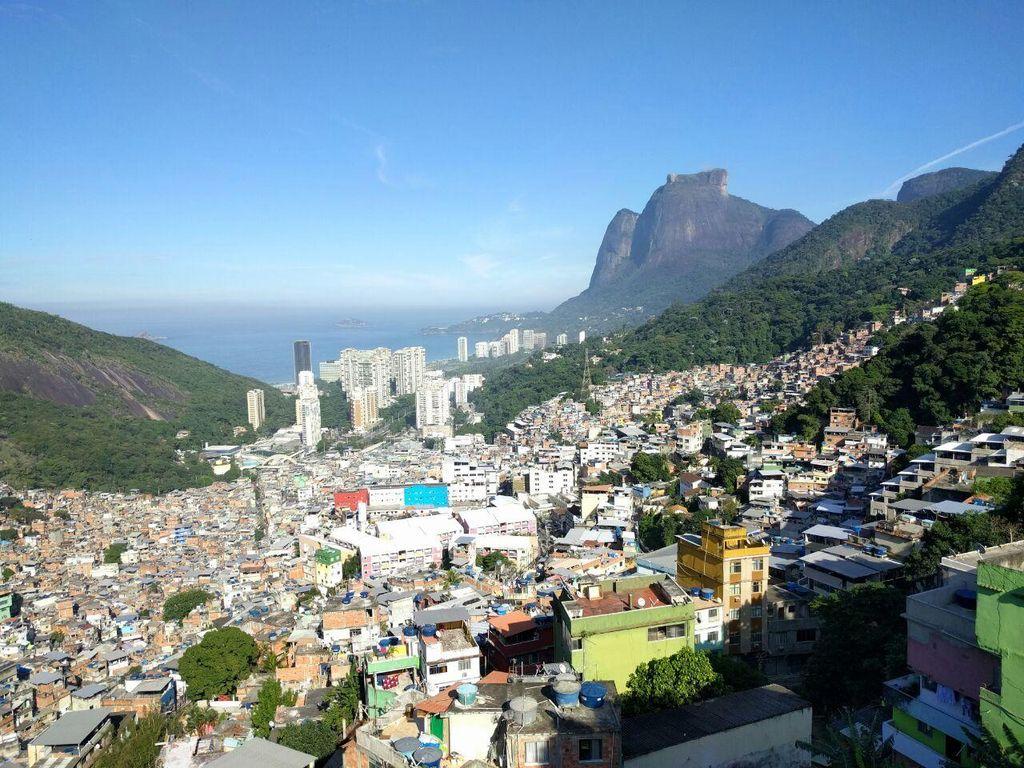 Potret Pemukiman Kumuh Rio de Janeiro, Brasil