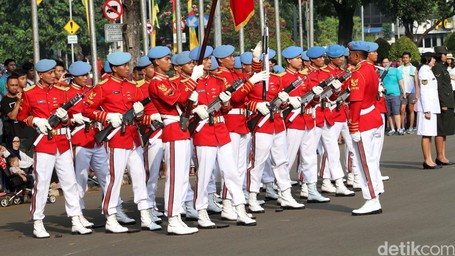 Serasa Di Inggris, Upacara Pergantian Penjaga Di Istana Negara Jakarta