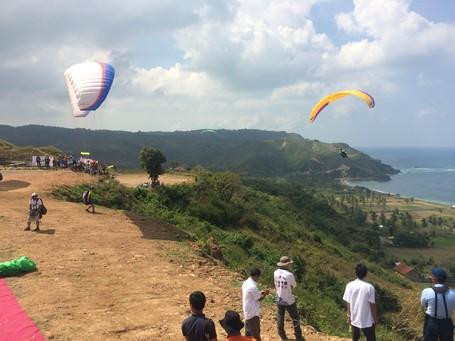 Gaet Wisman, Lombok Gelar Kompetisi Paralayang Internasional