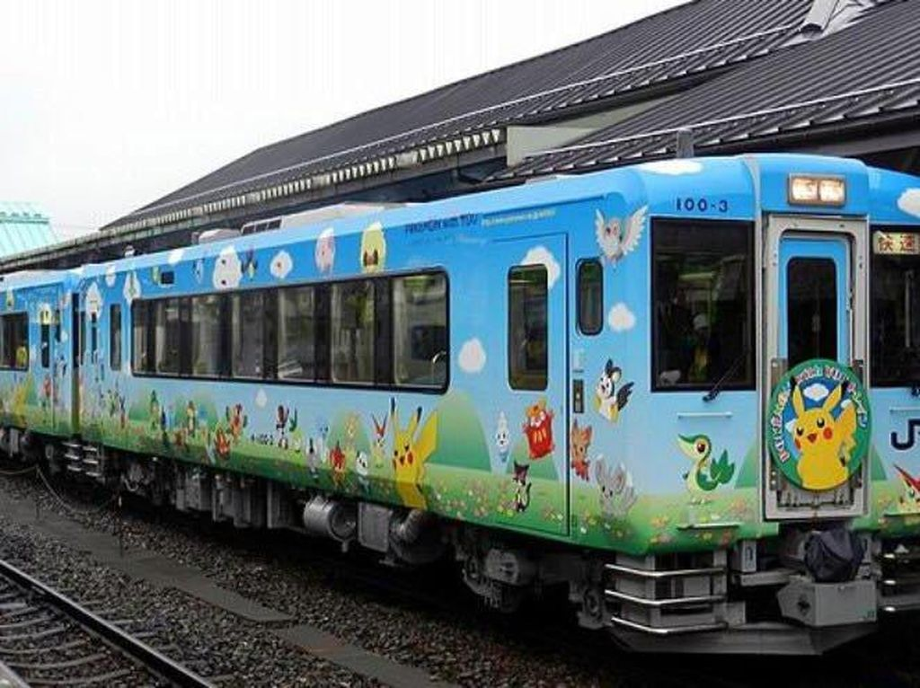 Kawaii! Ada Kereta Pokemon yang Super Imut di Jepang