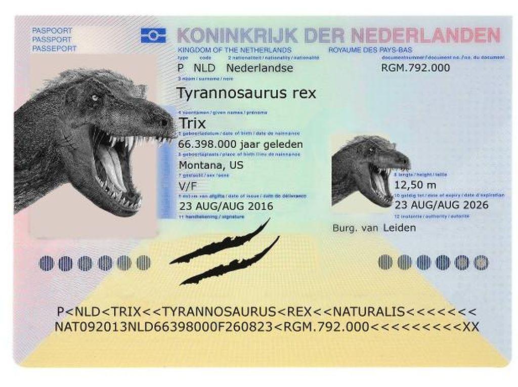 Bahkan T-rex pun Punya Paspor!