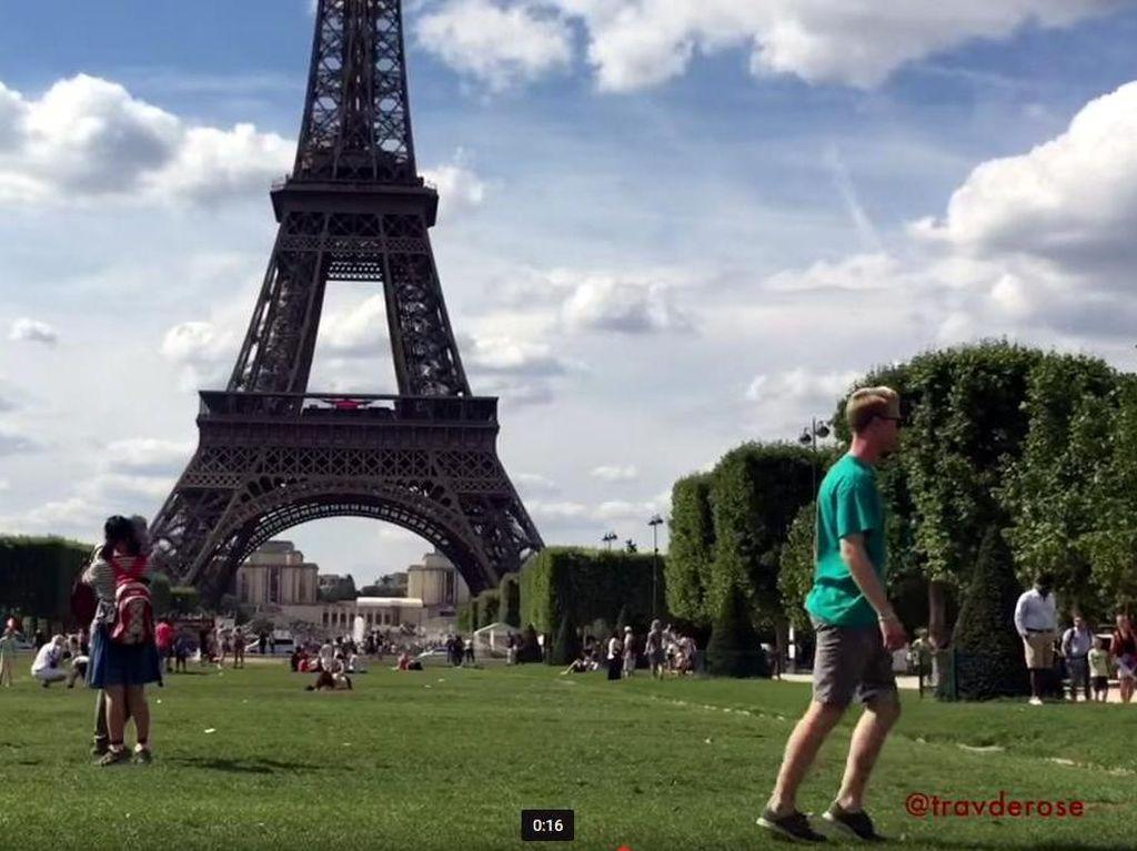 Sudah Nggak Zaman Selfie, Traveler Ini Moonwalk Keliling Eropa
