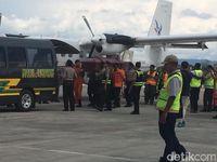 Jenazah Pilot Pesawat Kargo yang Jatuh di Oksibil, Papua Dievakuasi