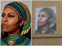 Seniman Pencipta Mural Michelle Obama di Chicago Dituduh Plagiat