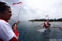 Nelayan Miangas memperingati Hari Kebangkitan Nasional