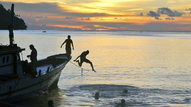 Salah satu aktivitas nelayan