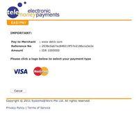 Pilih Pembayaran visa atau master