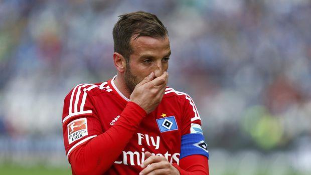 Rafael Van der Vaart pernah memperkuat SV Hamburg sebelum bergabung ke Real Madrid. (