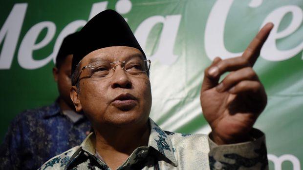 Ketua Umum PBNU KH Said Aqil Siradj menegaskan peran santri sangat vital dalam mempertahakan kemerdekaan Indonesia.(ANTARA FOTO/Zabur Karuru)