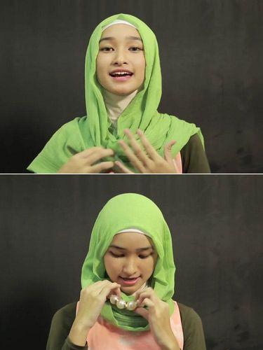Tutorial Hijab Simpel Ala Bella Almira, Juara 1 Hijab Hunt