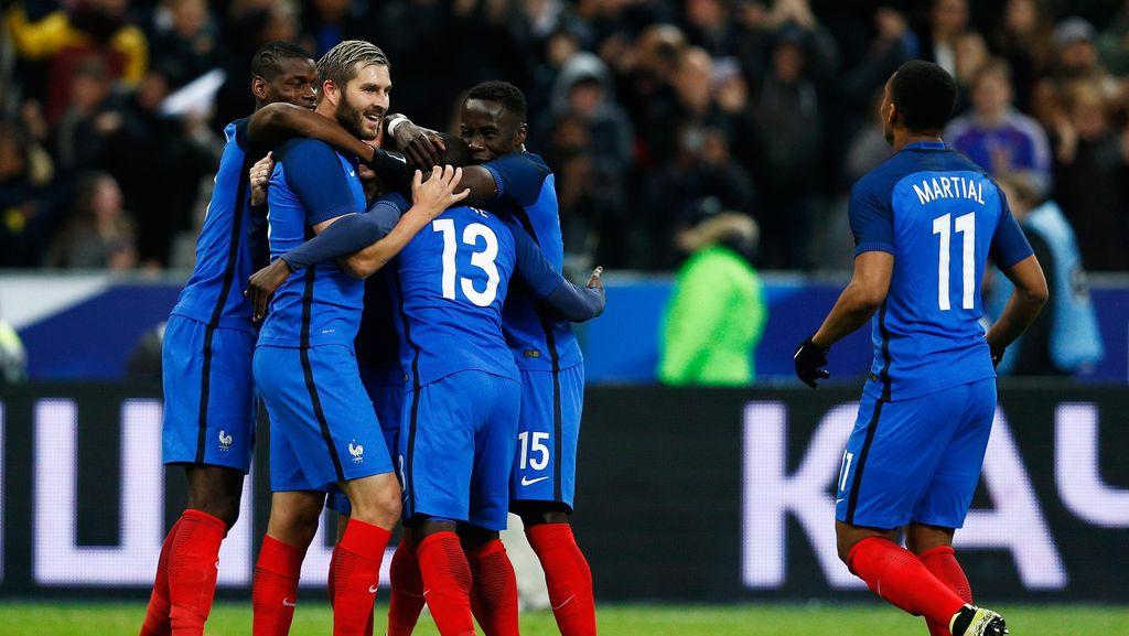 Tiga Pemain Cetak Gol Perdana, Prancis Tundukkan Rusia 4-2