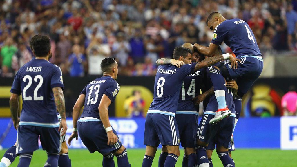 Dominan, Argentina Hantam AS 4-0 dan Melaju ke Final