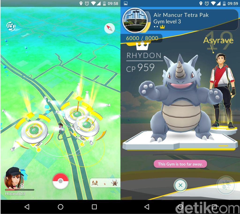 Gym adalah tempat di mana para trainer berkumpul dan mengadu Pokemonnya