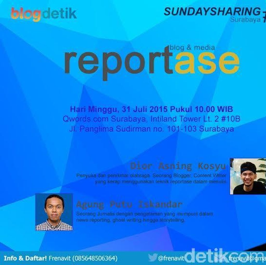 Yuk! Belajar Reportase di Sunday Sharing Surabaya #17!