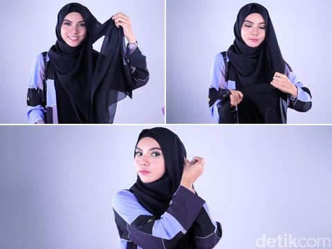 Tutorial Hijab Menutup Dada Ala Dancer Cantik, Riska