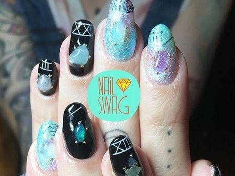 yoga nail art