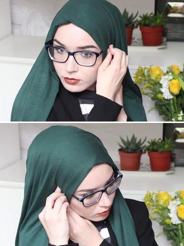 Video:Tutorial Hijab Semi Turban untuk Wanita Berkacamata