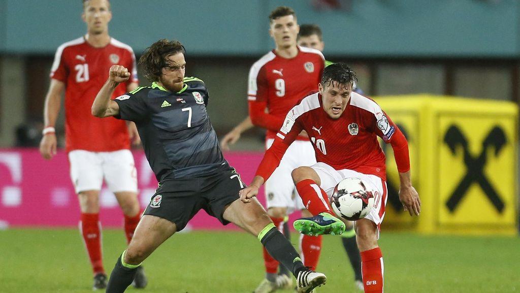 Sempat Unggul Dua Kali, Wales Diimbangi Austria 2-2