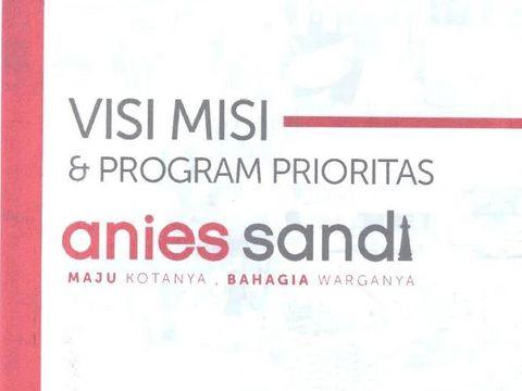 Visi misi Anies-Sandiaga (Dok. KPU RI)