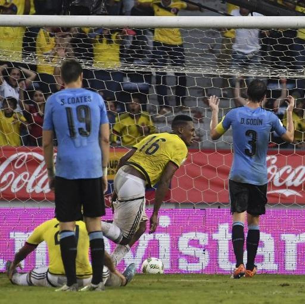 Kolombia-Uruguay Berakhir 2-2, Pekerman Terima Hasil Imbang