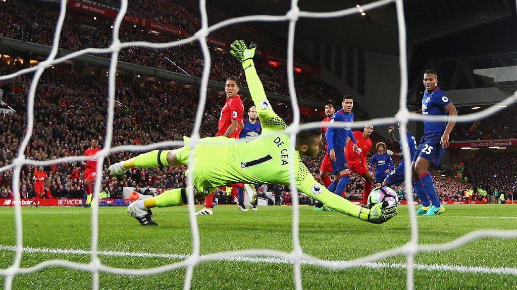 Liverpool Tak Berkutik Hadapi De Gea yang Gemilang di Anfield