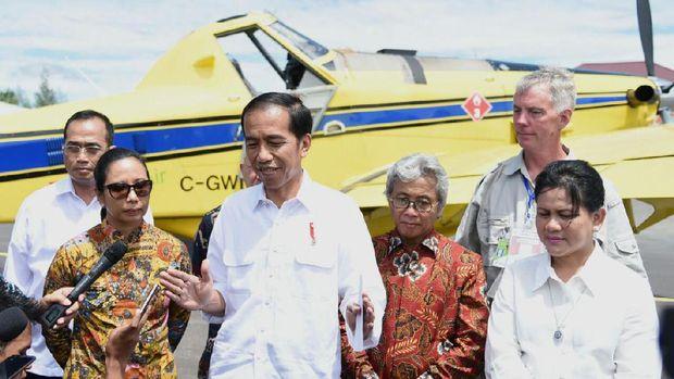 Jokowi saat berada di Papua. (Rusman/Setpres)