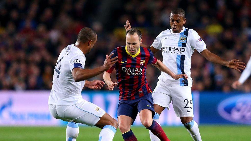 Iniesta: City Bisa Juara Liga Champions, tapi Semoga Tidak di Musim Ini