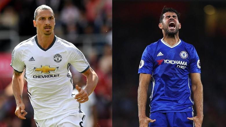 Manakah Yang Lebih Buas Diego Costa vs Zlatan Ibrahimovic