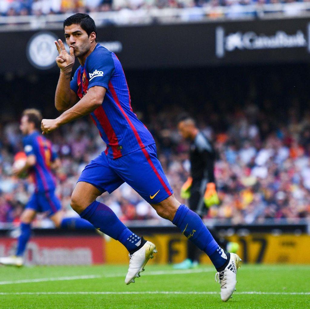Suarez Puas Barca Bisa <i>Comeback</i> Lawan Valencia