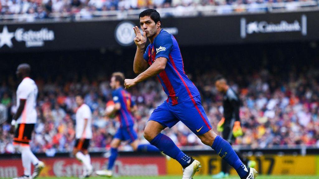 Suarez Puas Barca Bisa Comeback Lawan Valencia