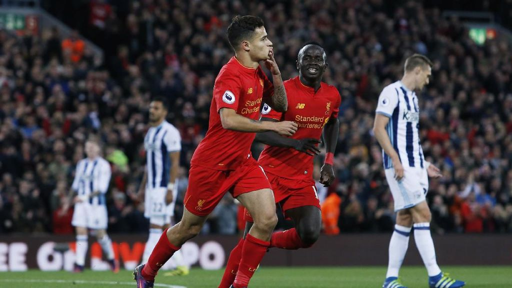 Liverpool Ungguli WBA 2-0 di Paruh Babak