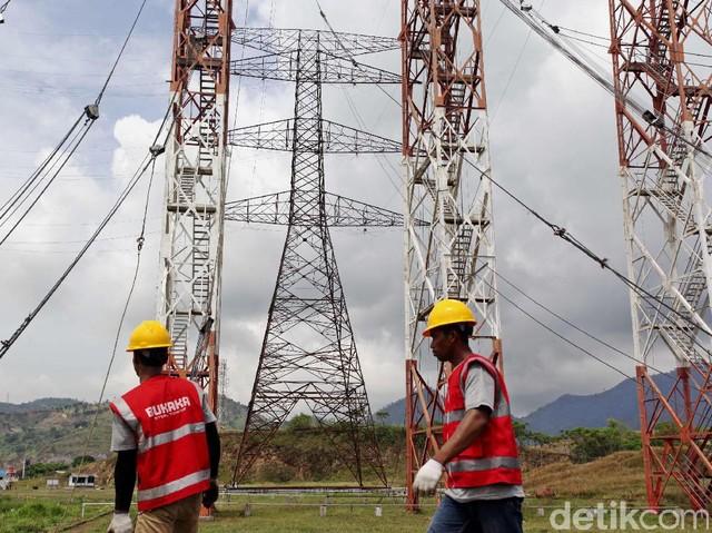 Uji Kelayakan Tower Transmisi 500 KV di Cilegon