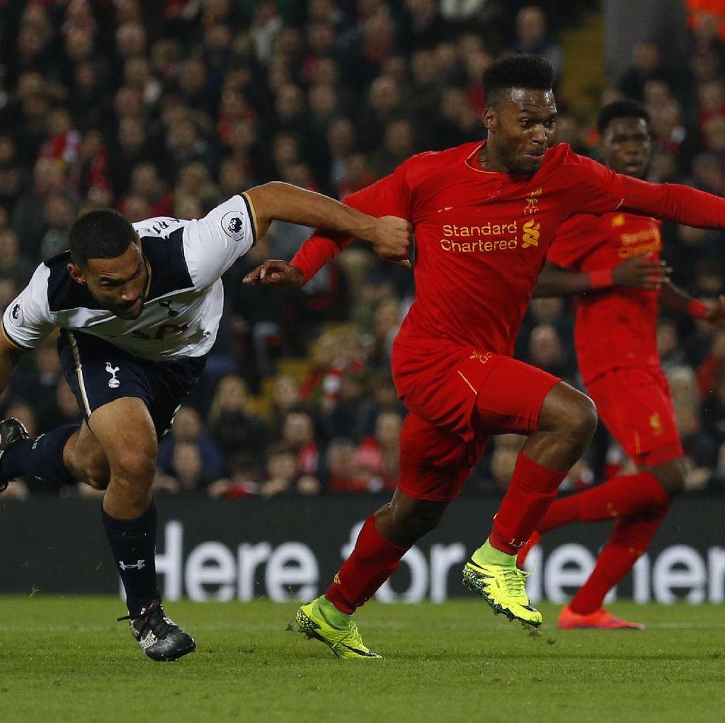 Sturridge Dua Gol, Liverpool Kalahkan Spurs dan Pijak Babak Kelima