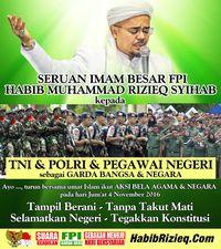 Habib Rizieq Minta Sekolah dan Kantor Beri Libur untuk Aksi Demo 4 November