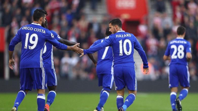 Hazard dan Costa Bawa Chelsea Tundukkan Soton 2-0