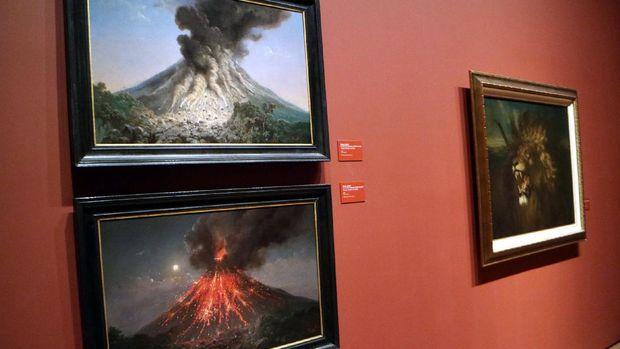 Karya Raden Saleh berupa Lukisan Erupsi Gunung Berapi (Okdwitya Karina Sari/detikTravel)
