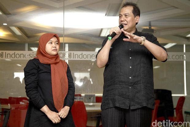 Iin Yumiyanti bersama Chairul Tanjung (Ridho/detikcom)