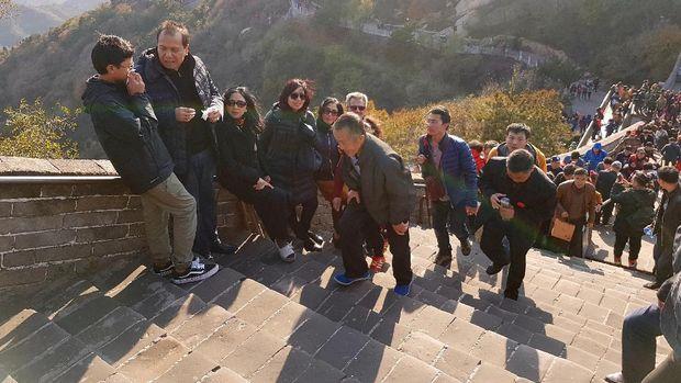 Perjalanan panjang yg terbayar dengan keindahan Tembok Besar China (Elvan/detikTravel)