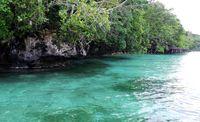 Perairan biru yg sangat menggooda di Desa Saporkren, Raja Ampat (Wahyu/detikTravel)