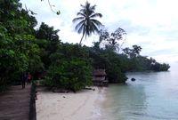 Pantai di Desa Saporkren (Wahyu/detikTravel)